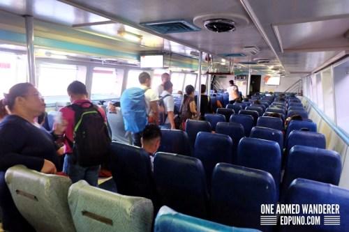 Tourist class seats Weesam Express