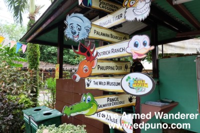 Various sections in Davao Crocodile Park