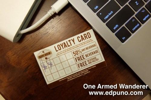 Kape Brew Loyalty Card