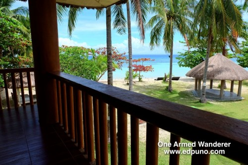 View from the beachfront villa