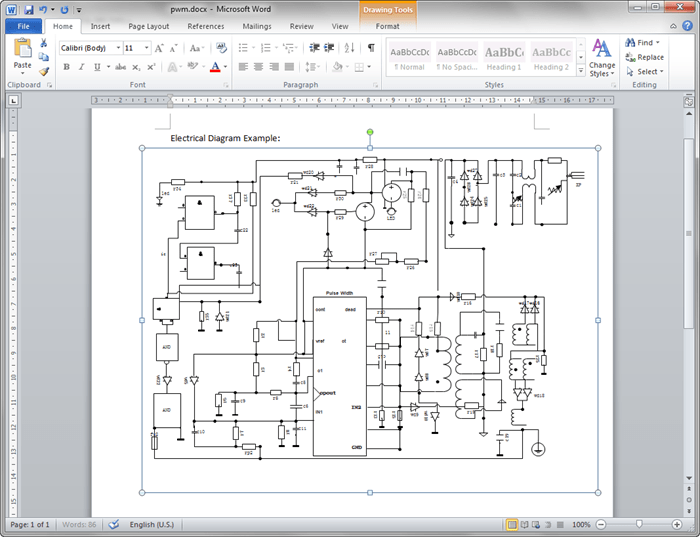 electrical diagram in word wiring diagrams schematics  how to draw a floor plan in word wikizie co rh wikizie co at create circuit