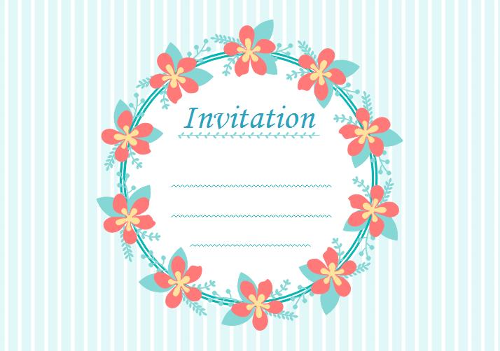 gratuits de carte d invitation vierges