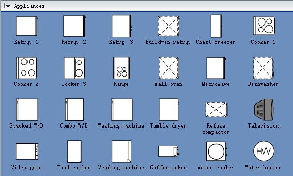 Appliances Symbols For Building Plan