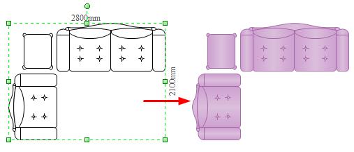 Plan And Elevation Of Sofa : Plan elevation of sofa thecreativescientist