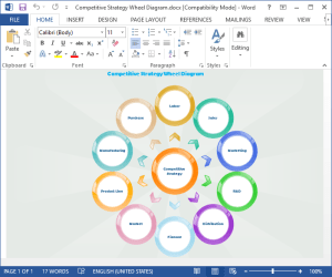 How to Create Wheel Diagram for Word