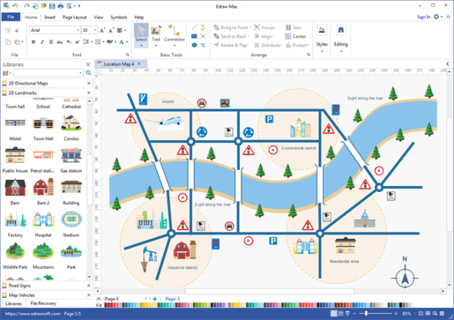 Map Maker Software Path Decorations Pictures Full Path Decoration - Location mapping software