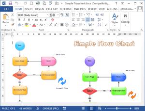 Flowcharts in Word