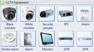 Security Symbols  Standard CCTV Symbols For video surveillance, sign security cameras