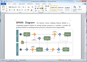 BPMN Diagram Templates for Word