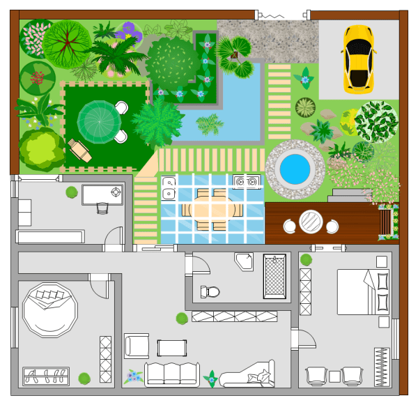 Garden Plan Examples and Templates on Backyard Layout Planner id=79787