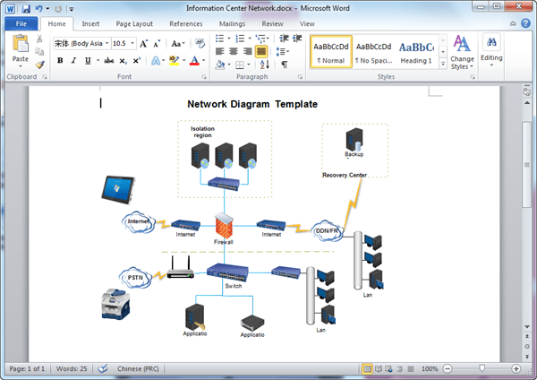 Select a name under data template to apply your changes to an existing template. Network Diagram Templates For Word