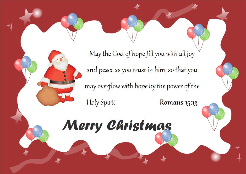 Christmas Card Word Merry Christmas And Happy New Year 2018