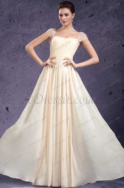 eDressit New Adorable Cap Sleeves Evening Dress Prom Gown