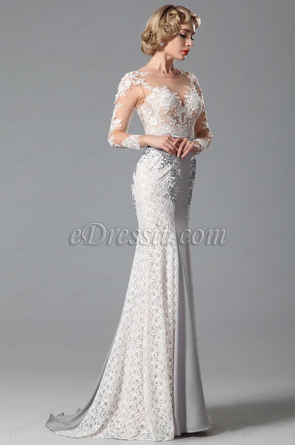 grey evening dress formal gown