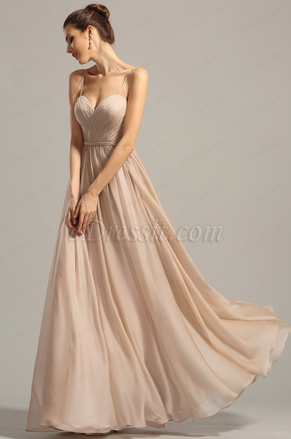 A Line Spaghetti Straps Evening Dress Formal Dress (00154714)