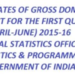 2015-16, gross domestic product (GDP) in the first quarter (April-June) figures