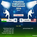 India Beat Malaysia, Take Bronze Medal At The Four Nations Invitational Tournament