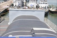 Green Initiative Installation of Solar Panel Onboard INS Sarvekshak
