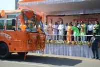 UP CM Adityanath flags off 50 'Sankalp Seva' buses in Lucknow