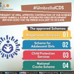 "Continuation of sub-schemes under Umbrella Scheme ""Integrated Child Development Services (ICDS)"""