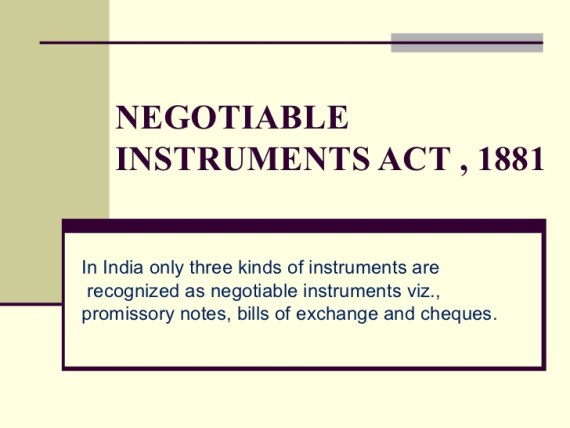 kinds of negotiable instruments