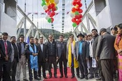 Longest Single Lane Steel Cable Bridge Inauguration