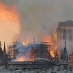 Massive fire ravages Paris cathedral