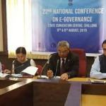 22nd National Conference on e-Governance 2019 to be held at Shillong on 8-9, 2019