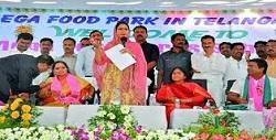Mega food park inaugurated in Telangana