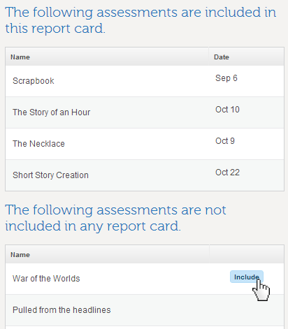 If you have created assessments without a due date for future units, you will see those assessments in the list. You do not have to clear this list or enter ...