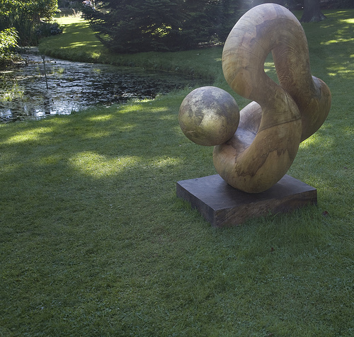 "Sculpture by Adam May, ""Mother and Child"" Botanic Gardens, Dublin"