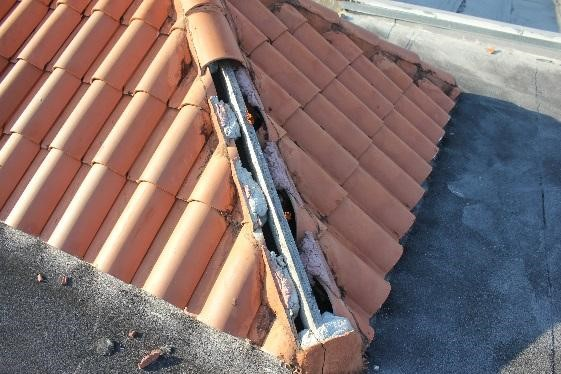 concrete and clay roof tiles