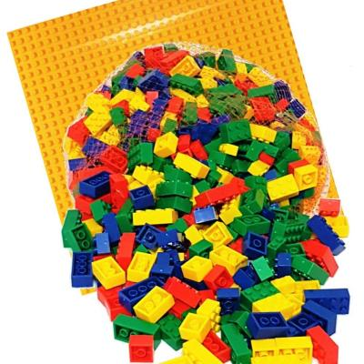 Red, Blue, Green, Yellow Bricks & Yellow Baseplate