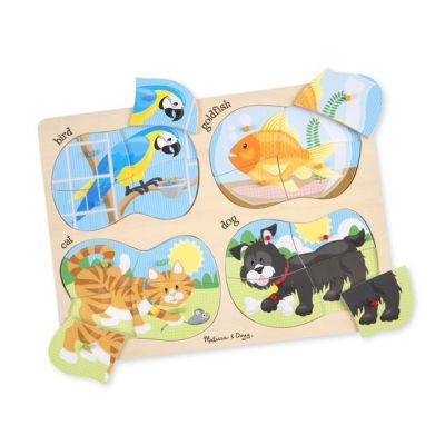 4-in-1 Wooden Peg Puzzle