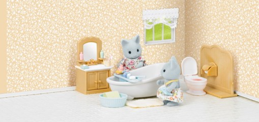 Country Bathroom Set with Cat sister