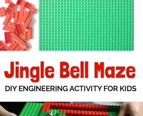 Jingle Bell Lego Maze: A Stem activity for kids