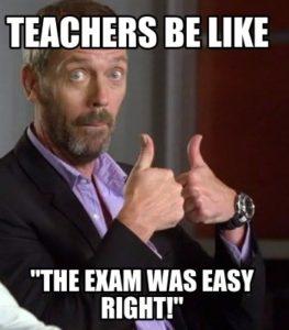 Exams meme