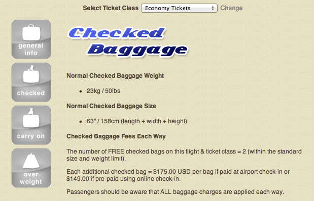 Luggage Limits – Emirates Airline Economy Tickets Flights to USA _ ...