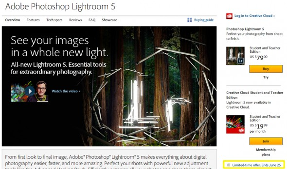 Good price adobe photoshop lightroom 5