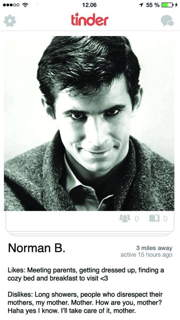 horror icons on tinder