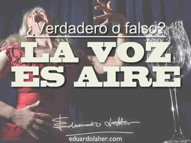 La voz es aire. Mitos sobre la voz
