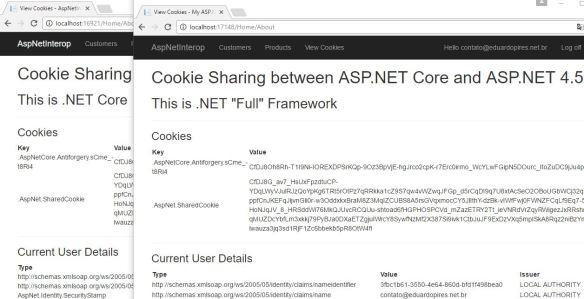 Compartilhando Cookies entre ASP.NET Core e ASP.NET MVC 5