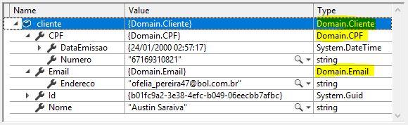 Entidade recuperada no Entity Framework Core