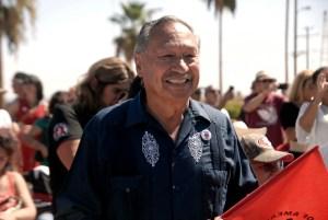Arturo Rodríguez, presidente de la UFW durante el evento. (Foto: Eduardo Stanley)