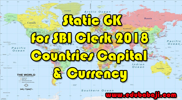 List of important countries capitals currencies for sbi clerk most important countries capital currency gumiabroncs Choice Image