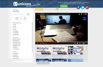Portal de vídeos Unicoos