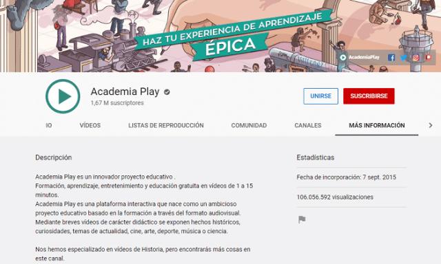 Canal 'Academia Play'