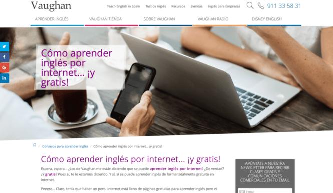 Cómo aprender inglés por Internet y ¡gratis!