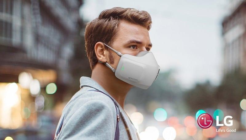 LG mascarilla purificador de aire portatil