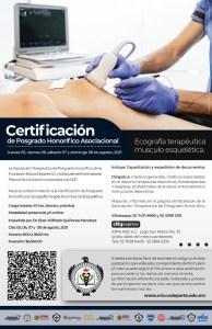 Certificación de Posgrado Honorifico Ecografía Terapéutica